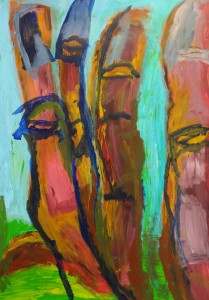 Body of Roots, 2021, 100 cm x 70 cm, acrylic paint on paper