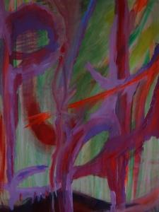 Clara Bolle and Masé Sutterland, 2020, 100 cm x 70 cm, acryl and gouache on paper
