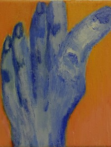 Hand 10, 2020, 20 cm x 20 cm, acrylic paint on canvas