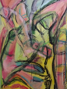Hand 14, 2020, 100 cm x 70 cm, charcoal and oil pastel on paper