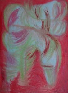 Hand 19, 2021, 100 cm x 70 cm, oil pastel on paper - 650 euro