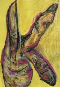 Hand 2, 2020, 100 cm x 70 cm, charcoal and oil pastel on paper - 450 euro