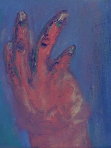 Hand 6, 2020, 20 cm x 20 cm, acrylic paint on canvas