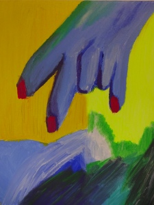 Hand 7, 2020, 40 cm x 40 cm, acrylic paint on canvas - 350 euro