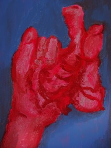 Heart 2, 2020, 30 cm x 24 cm, acrylic paint on canvas - 250 euro's
