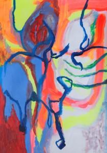 Hermaphroditus, 2019, 100 cm x 70 cm, acrylic paint on paper