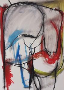 Hermaphroditus, 209, 65 cm x 50 cm, soft pastel on paper