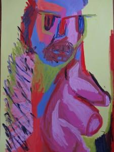 Horse/Girl 2, 2019, 100 cm x 70 cm, acrylic paint on paper
