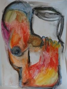Metamorphine, 2019, 32cmx24cm, watercolour pencil on paper