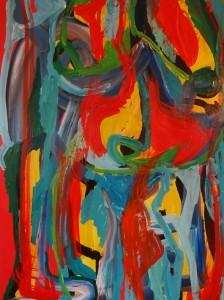 Metamorphine 4, 2019, 100 cm x 70 cm, acrylic paint on paper