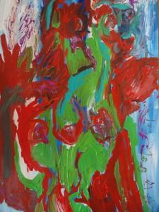 Metamorphine 5, 2019, 100 cm x 70 cm, acrylic paint on paper