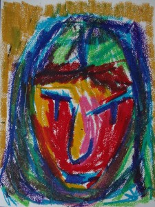 Ronja, 2019, 32 cm x 24 cm, oil pastel on paper